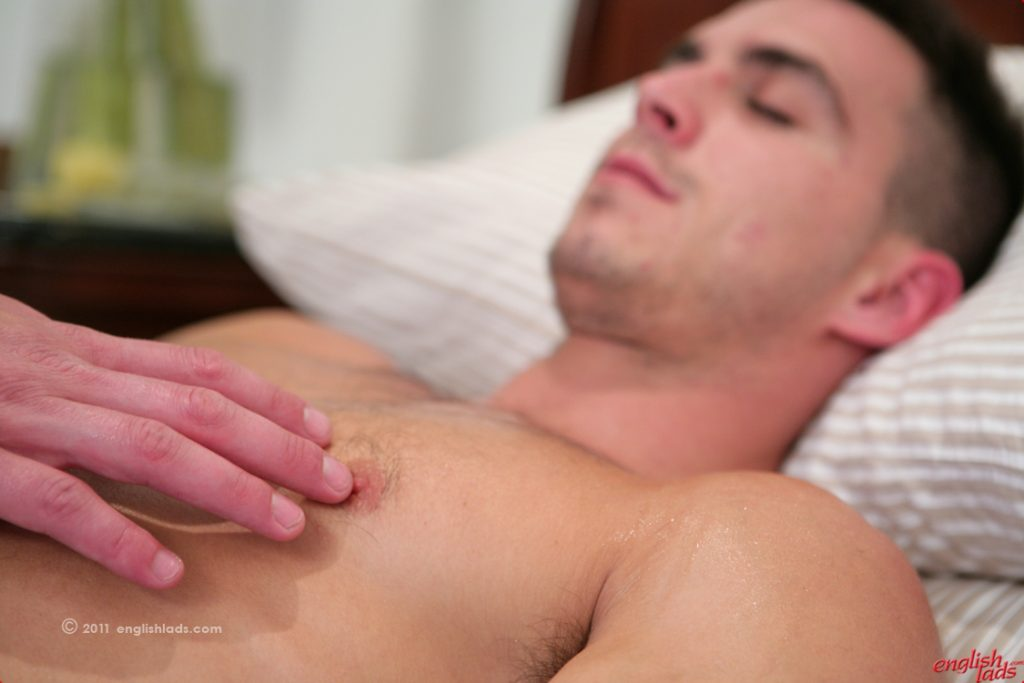 Paddy O'Brian wanked and massaged on video