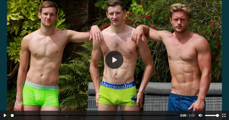 Three straight boys enjoying their uncut cocks in the sun with wanking and sucking