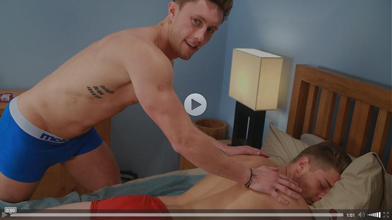 Straight Cheeky Hung Stud Ricky Gets 1st Man Wank & Explodes Big