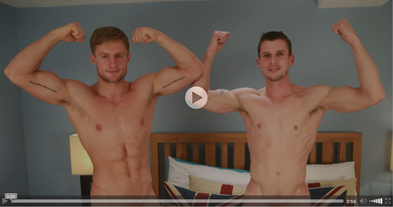 2 straight guys jerking each other off on video at Englishlads