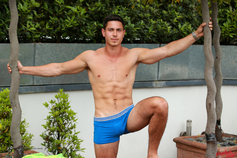 Straight boy in his underwear for Englishlads gay porn site