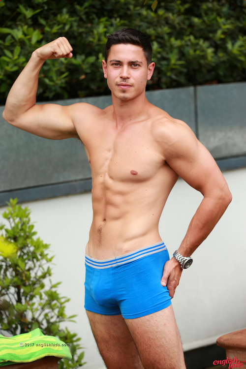 Straight jock Connor Wickham appears for Englishlads gay porn site