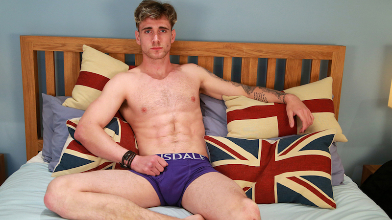 Gay porn star James Harrison at Englishlads