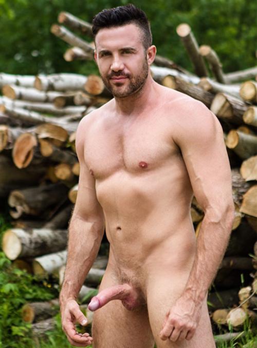 Gay porn star Jessy Bernardo with a long uncut cock