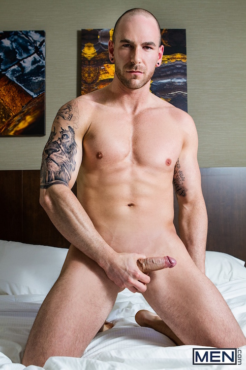 gay porn star Shawn Hardy naked and hard
