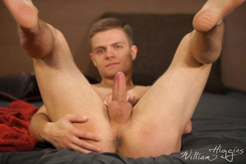 gay porn star Standa Vrba cums a big load in his first jerk off video